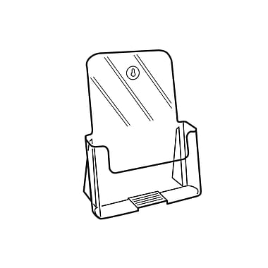 FFR Merchandising - Présentoir autonome de documents Excelsior, 6,44 po larg., 3/paquet (9307696509)