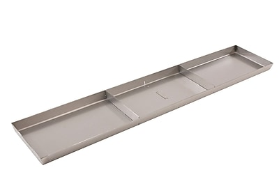 FFR Merchandising Stainless Steel Pan, Drain Holes, 2 Dividers, 6 inch W x 30 inch L x 1 inch D, (9922510313)