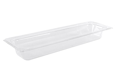 FFR Merchandising Cold Food Pans and Covers, Half Long Pan, 2 1/2 inch D, Clear, 2/Pack, (9922510595)