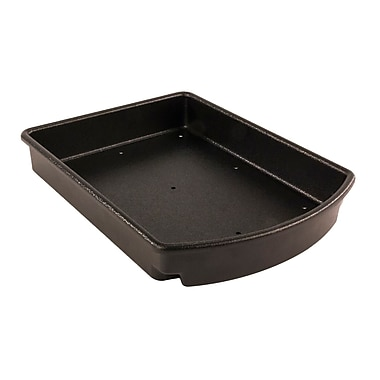 FFR Merchandising Curved Tray for Aluminum Direct Hook-In Shelves, 18 inch Side/20 inch Center Depth, (9922810006)