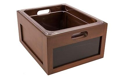 FFR Merchandising Chalkboard Crate, 13 inch L x 11 inch W x 7 inch H, (9923117556)