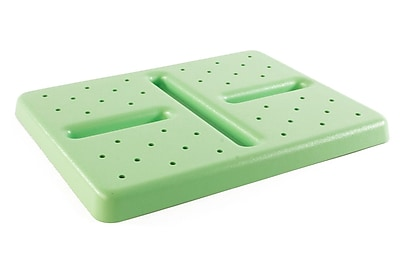 FFR Merchandising Plastic Lugs and Covers, Drain Insert for 26 inch L x 18 inch W Lug, Green, (9923610605)