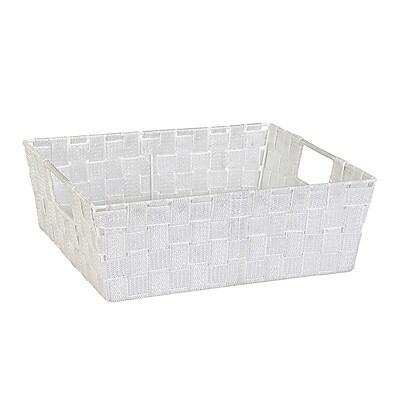 Simplify Large Shelf Tote, White/Silver (26243-Wht/Silver)