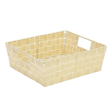 Simplify Large Shelf Tote, White/Gold (26243-Wht/Gold)