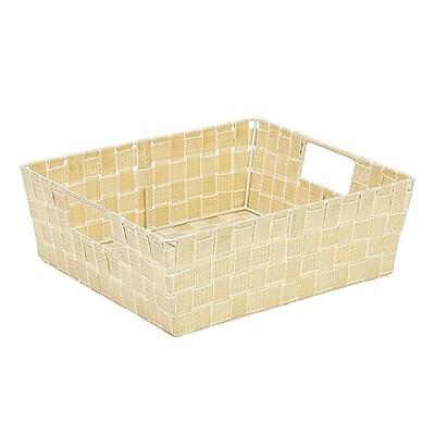 Simplify Large Shelf Tote, White/Gold (26243-Wht/Gold)