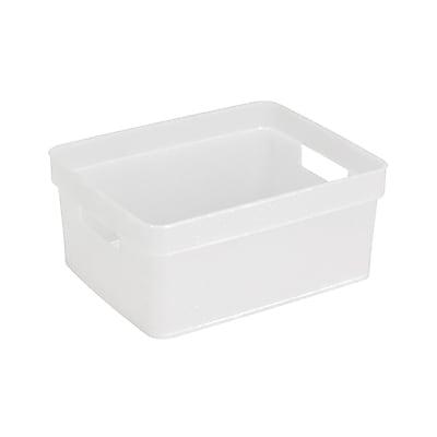 Simplify Small Resin Tote, Grey (26105-White)
