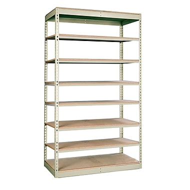 Hallowell Rivetwell Single Rivet Boltless 84'' H 7 Shelving Unit; 84'' H x 36'' W x 12'' D
