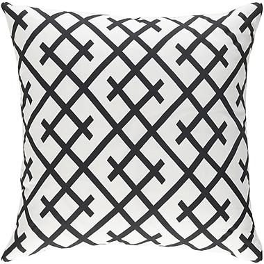 Artistic Weavers Ethiopia Kenya Pillow; Black/White