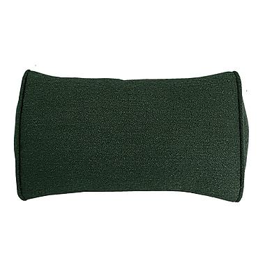 Edie Inc. Edie Carlisle Chenille Bolster Pillow; Hunter