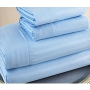 Ruthy's Textile 300 Thread Count 100pct Cotton Sheet Set; Blue
