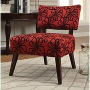 A&J Homes Studio Flamingo Slipper Chair; Red