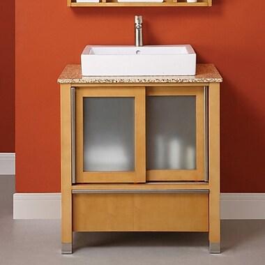 DecoLav Tyson 31'' Single Bathroom Vanity Set; Maple