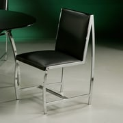 Impacterra Belado Side Chair in Leather Touch Black
