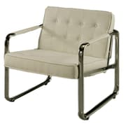 Impacterra Tibet Fabric Lounge Chair; Ivory