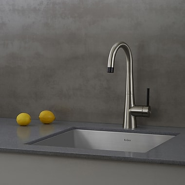 Kraus 31.5'' x 18.5'' Undermount Stainless Steel Sinks w/ Pull Down and Bar Faucets