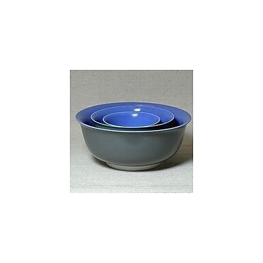 Middle Kingdom 3 Piece Polychrome Nesting Bowl Set; Lavender / Steel Grey