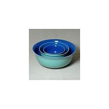 Middle Kingdom 3 Piece Polychrome Nesting Bowl Set; Mountain Lake Blue / Celadon