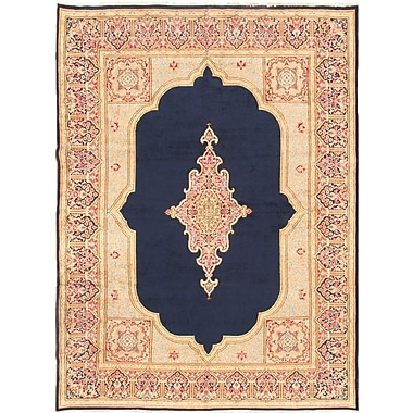 Pasargad Kerman Hand-Knotted Navy Area Rug