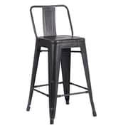 AC Pacific 24'' Bar Stool (Set of 2); Sand Matte Black