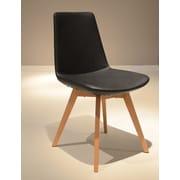 B&T Design Pera Wood Chair; Black