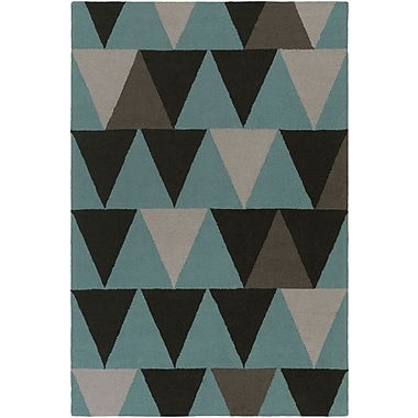 Artistic Weavers Hilda Rae Hand-Crafted Teal/Gray Area Rug; Rectangle 5' x 7'6''