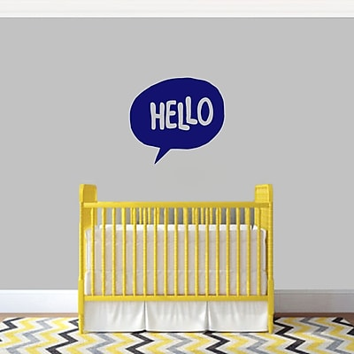 SweetumsWallDecals 3 Piece Hello Word Bubble Wall Decal Set; Navy