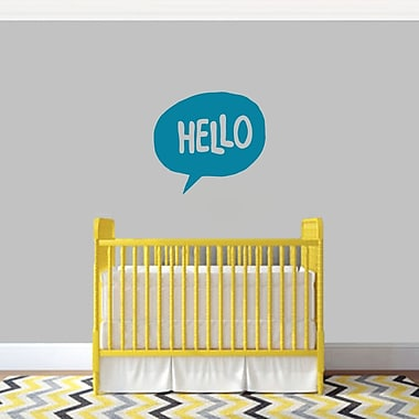 SweetumsWallDecals 3 Piece Hello Word Bubble Wall Decal Set; Teal