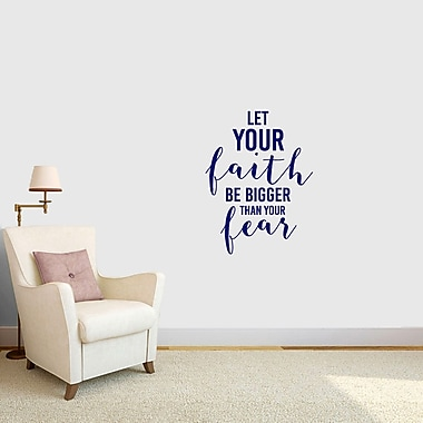 SweetumsWallDecals Let Your Faith Be Bigger Than Your Fear Wall Decal; Navy