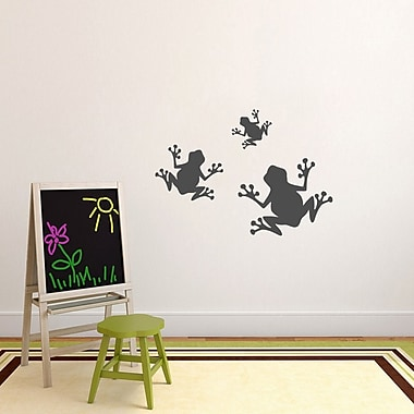 SweetumsWallDecals 3 Piece Frogs Wall Decal Set; Dark Gray