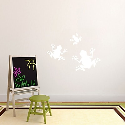 SweetumsWallDecals 3 Piece Frogs Wall Decal Set; White