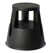 MT Displays 2-Step Plastic Step Stool w/ 330 lb. Load Capacity; Black