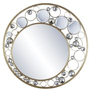 OK Lighting Glimmer Wall Plaque Mirror