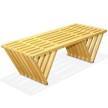 Glodea Eco Friendly Bench X90 Made in USA; Honey