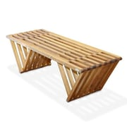 Glodea Eco Friendly Bench X90 Made in USA; Light Brown