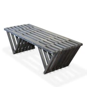 Glodea Eco Friendly Bench X90 Made in USA; Wild Black