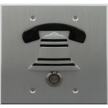 Doorbell Fon Outside Door Surface Mount Pushbutton; Brushed Aluminum