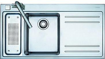 Franke Mythos Stainless Steel Left Hand Double Bowl Kitchen Sink