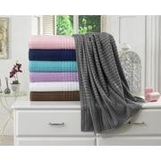 Berrnour Home Piano Bath Towel (Set of 2); Gray