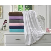 Berrnour Home Piano Bath Towel (Set of 2); White