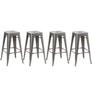 FamisCorp 30'' Bar Stool (Set of 4); Distressed Metal