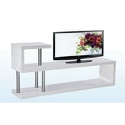 BestMasterFurniture Hollow 71'' TV Stand; White