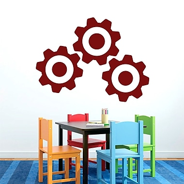 SweetumsWallDecals 3 Piece Gears Wall Decal Set; Cranberry