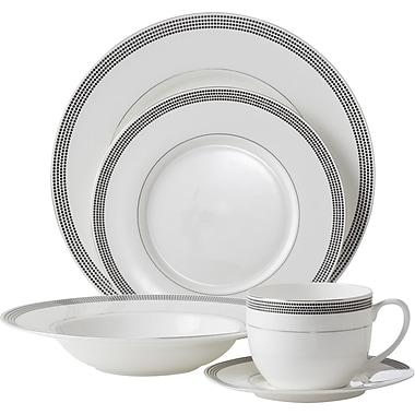 Flato Home Bone China Inspiration Pearl 5 Piece Place Setting, Service for 1