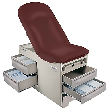 Brewer Access 5000 Model Exam Table; 5001 / Burgundy
