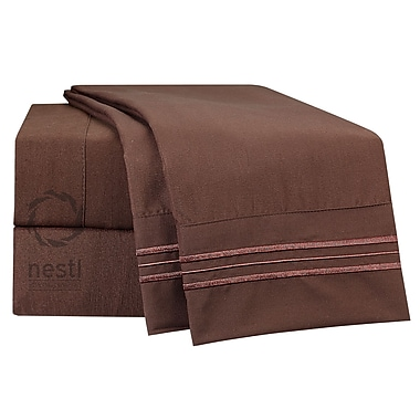 Nestl Bedding Nighthawk Microfiber Sheet Set; Queen