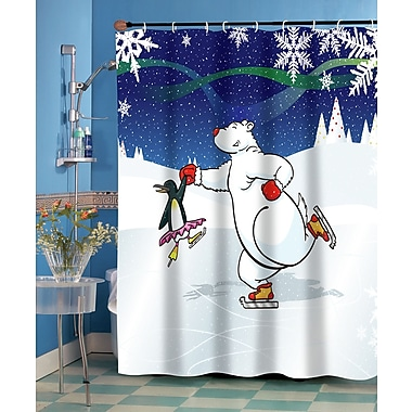 Carnation Home Fashions Ice Dancers Shower Curtain