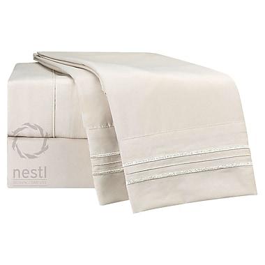 Nestl Bedding Flamingo Microfiber Sheet Set; Twin XL