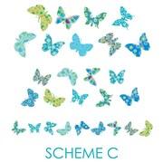 Wall Decal Source Butterfly Nursery Wall Decal; Scheme C