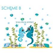 Wall Decal Source Seahorse Ocean Vinyl Wall Decal; Scheme B