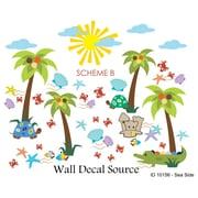 Wall Decal Source Summer, Beach and Sea Side Nursery Wall Decal; Scheme B